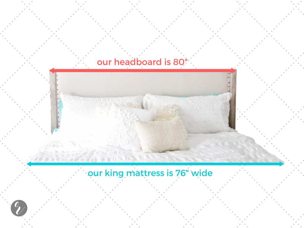 RH-like headboard bed measurement