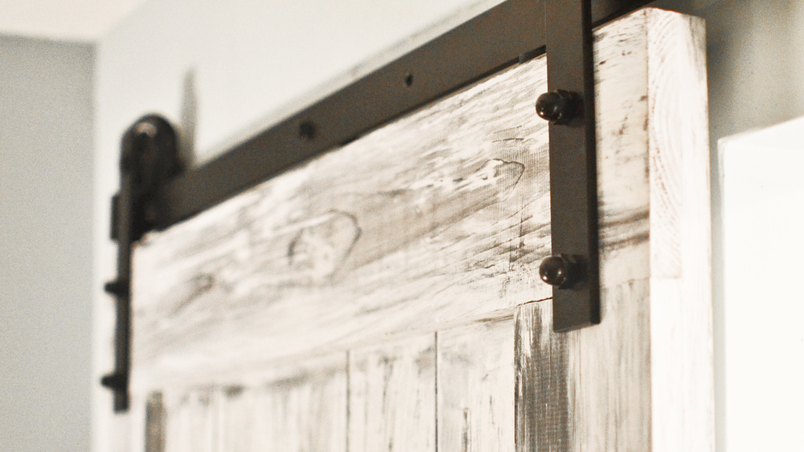 How To Build Amp Install A Sliding Barn Door Building Our Rez