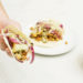 Chickpea and Cauliflower Tacos with Avocado-Lime Crema