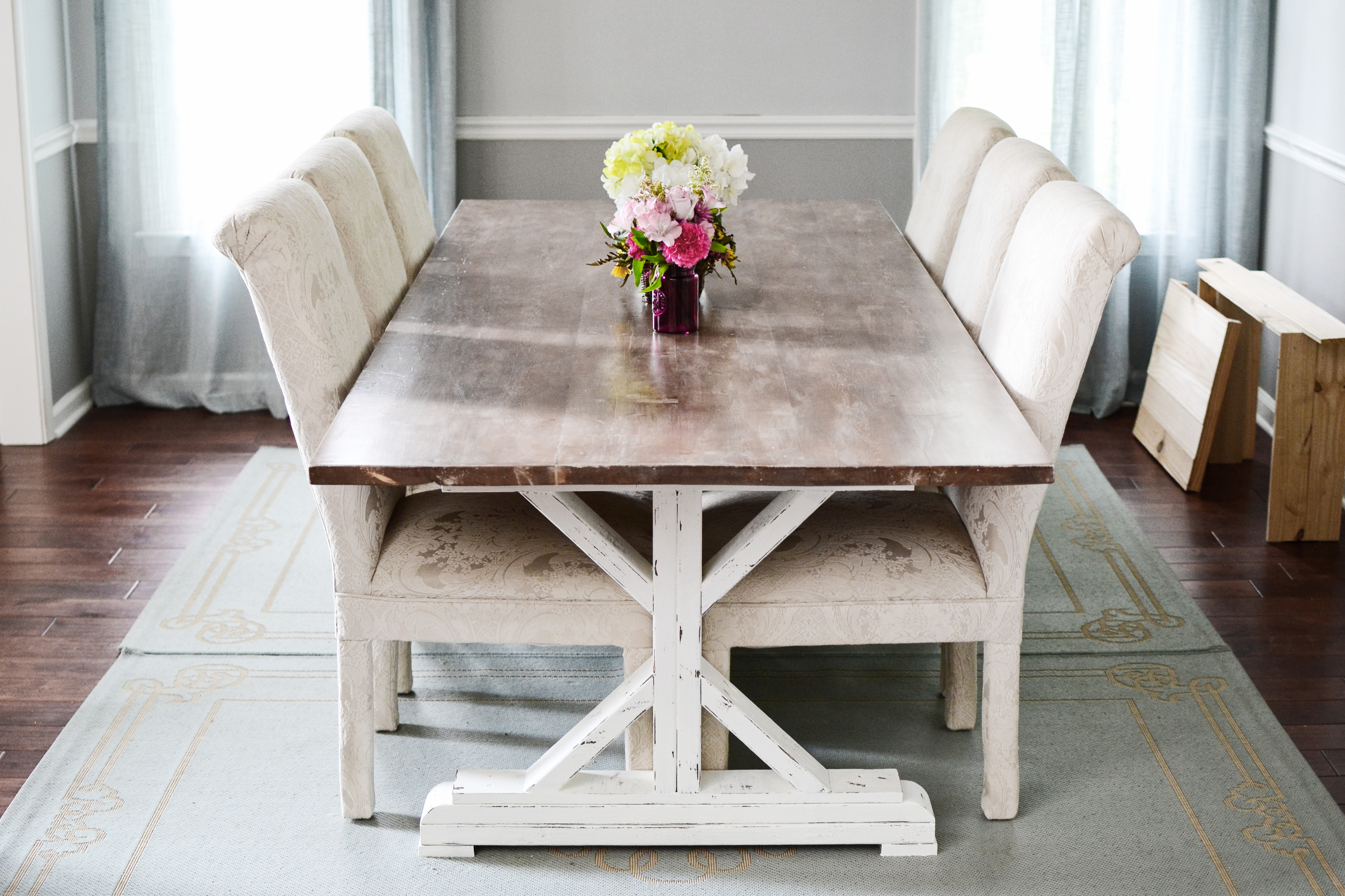 Brilliant How To Paint Stain Whitewash Distress A Fancy X Gmtry Best Dining Table And Chair Ideas Images Gmtryco