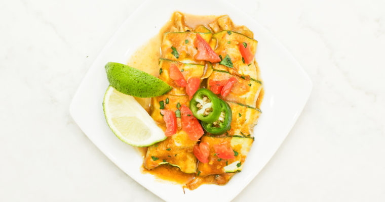 Creamy Zucchini Chicken Enchiladas (GF, Whole30)