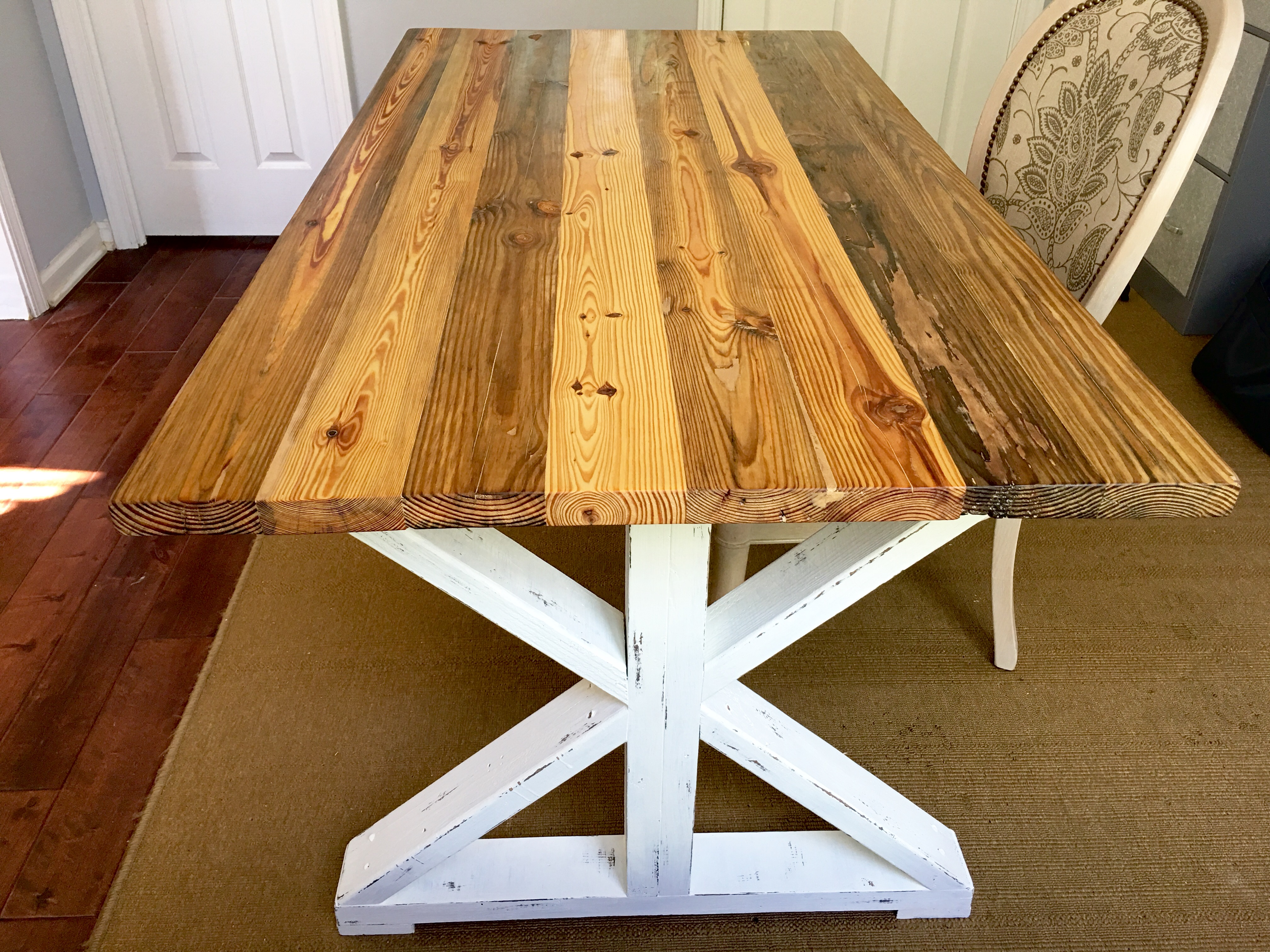 How To Finish Your Reclaimed Table With Stain Paint