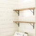 How to Make & Install DIY Stained Wood Shelves