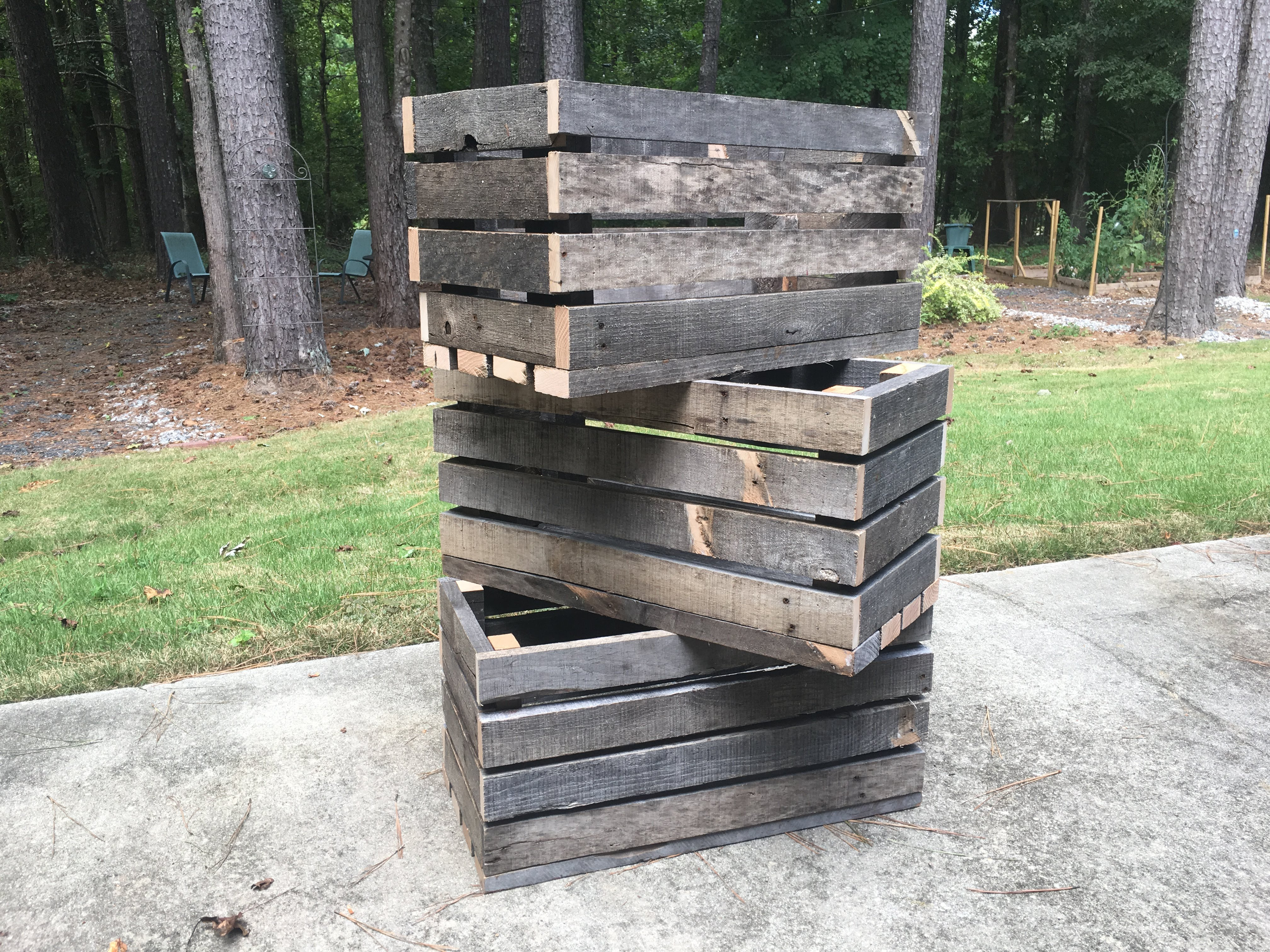How To Make Crates Out Of Wood Pallets Building Our Rez