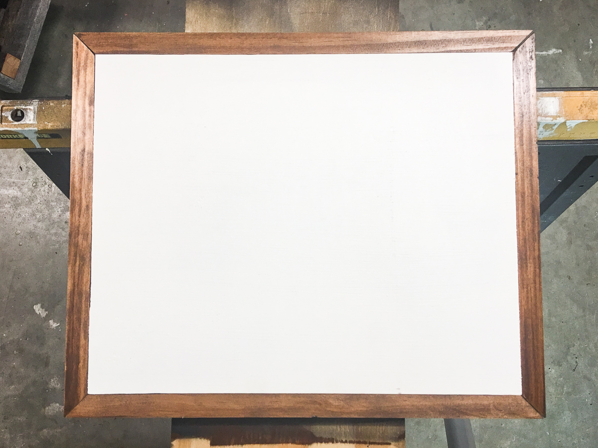 How to Build a DIY Plywood Canvas with Stained Picture Frame ...