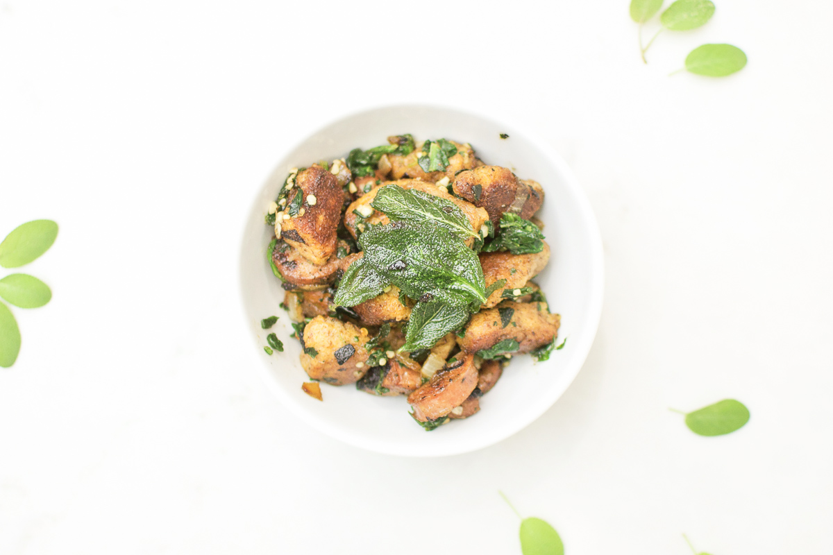 Toasted Sweet Potato Gnocchi With Sausage and Crispy Sage Recipe