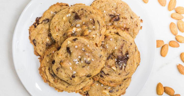 Salted Brown Butter, Almond & Dark Chocolate Cookies Recipe