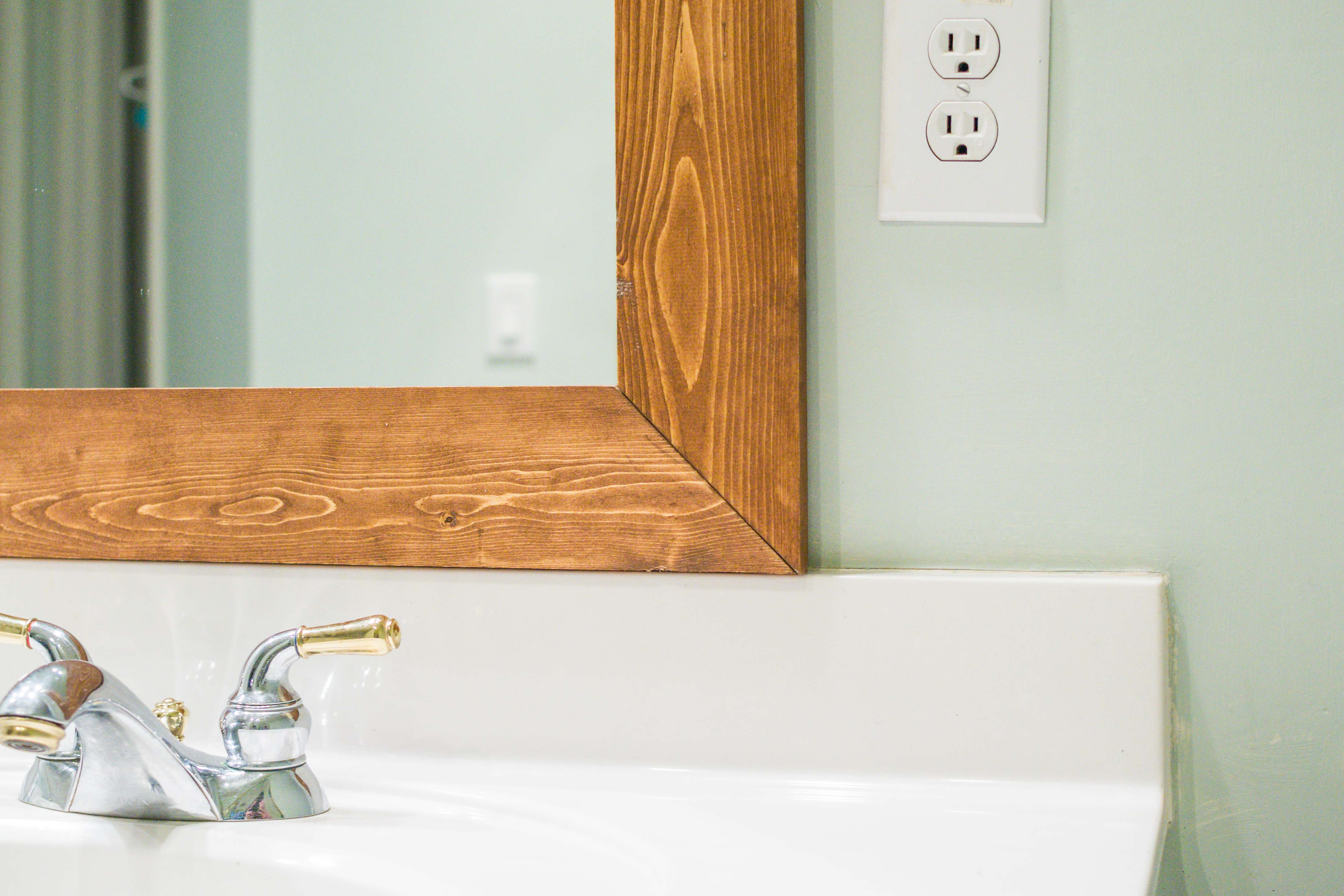 Do It Yourself Home Design: How To DIY Upgrade Your Bathroom Mirror With A Stained