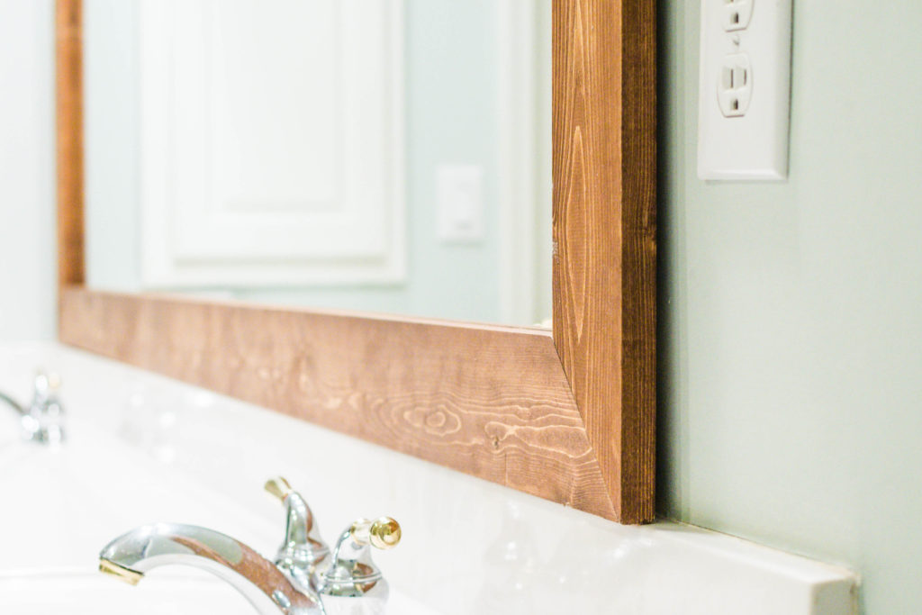 How To Diy Upgrade Your Bathroom Mirror With A Stained