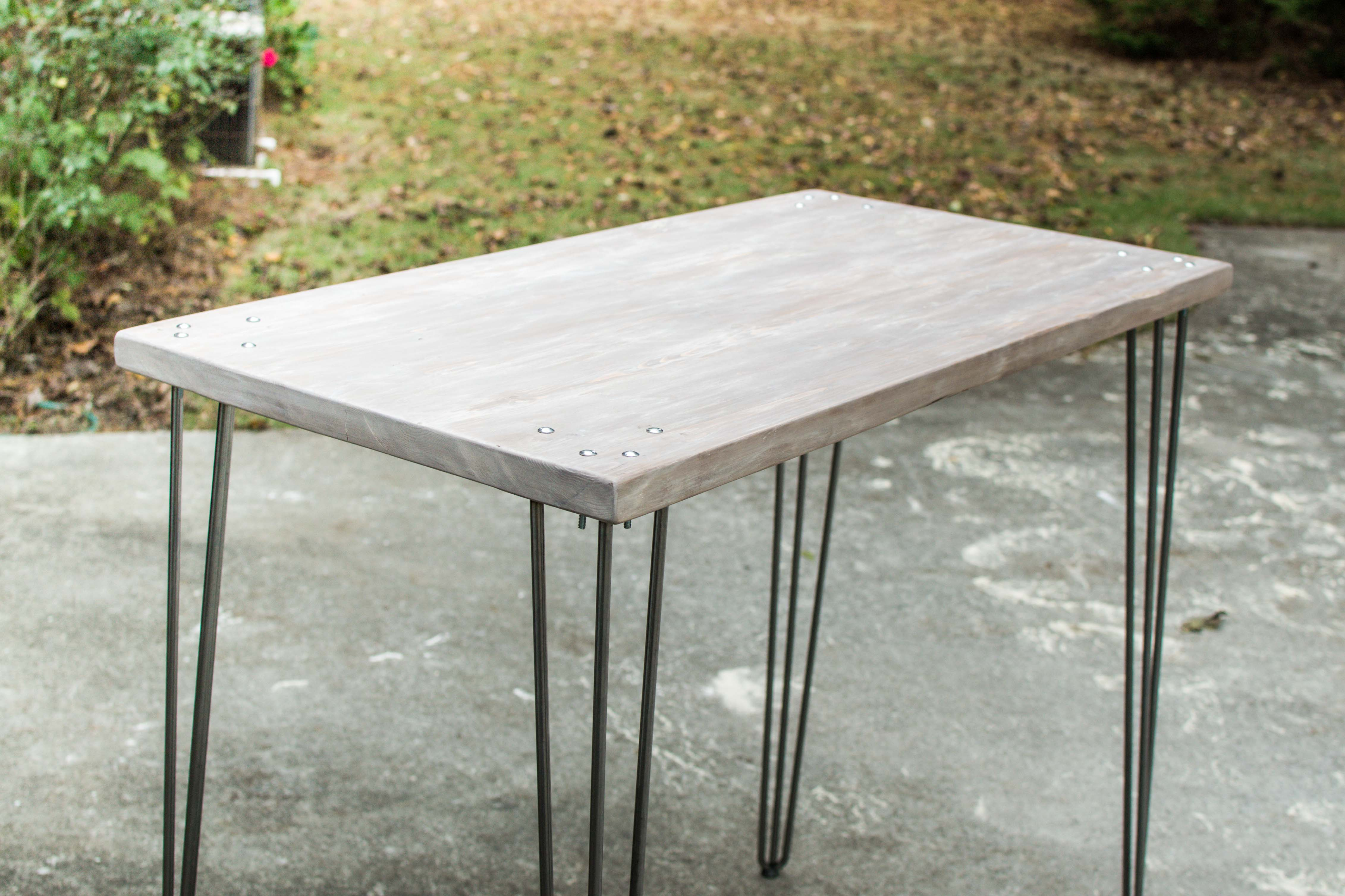 How to Make a Standing Desk With Wood Top & Metal Legs