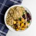 Roasted Butternut Squash, Kale and Quinoa Salad with Lemon-Balsamic Vinaigrette Recipe (Vegan)