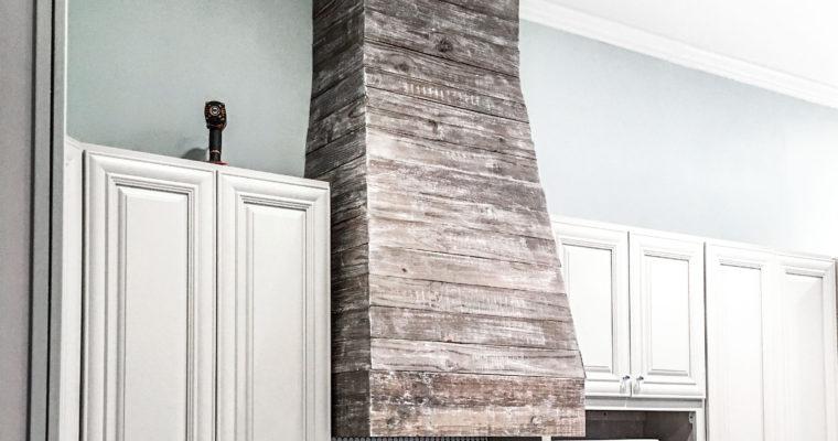 How to DIY Finish a Custom Pallet Wood Range Hood Vent Cover