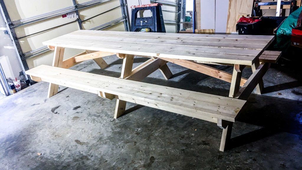 Diy Finish An Outdoor Picnic Table
