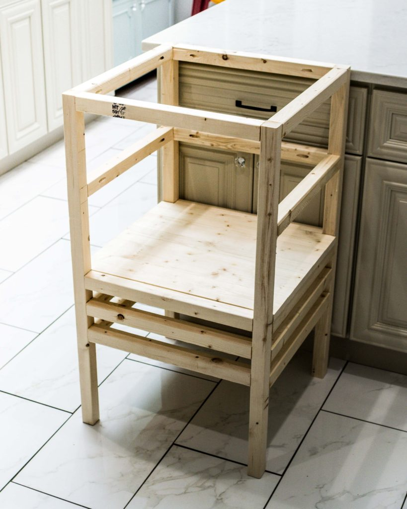 Swell How To Build A Diy Stool Tower Kitchen Helper For Toddlers Caraccident5 Cool Chair Designs And Ideas Caraccident5Info