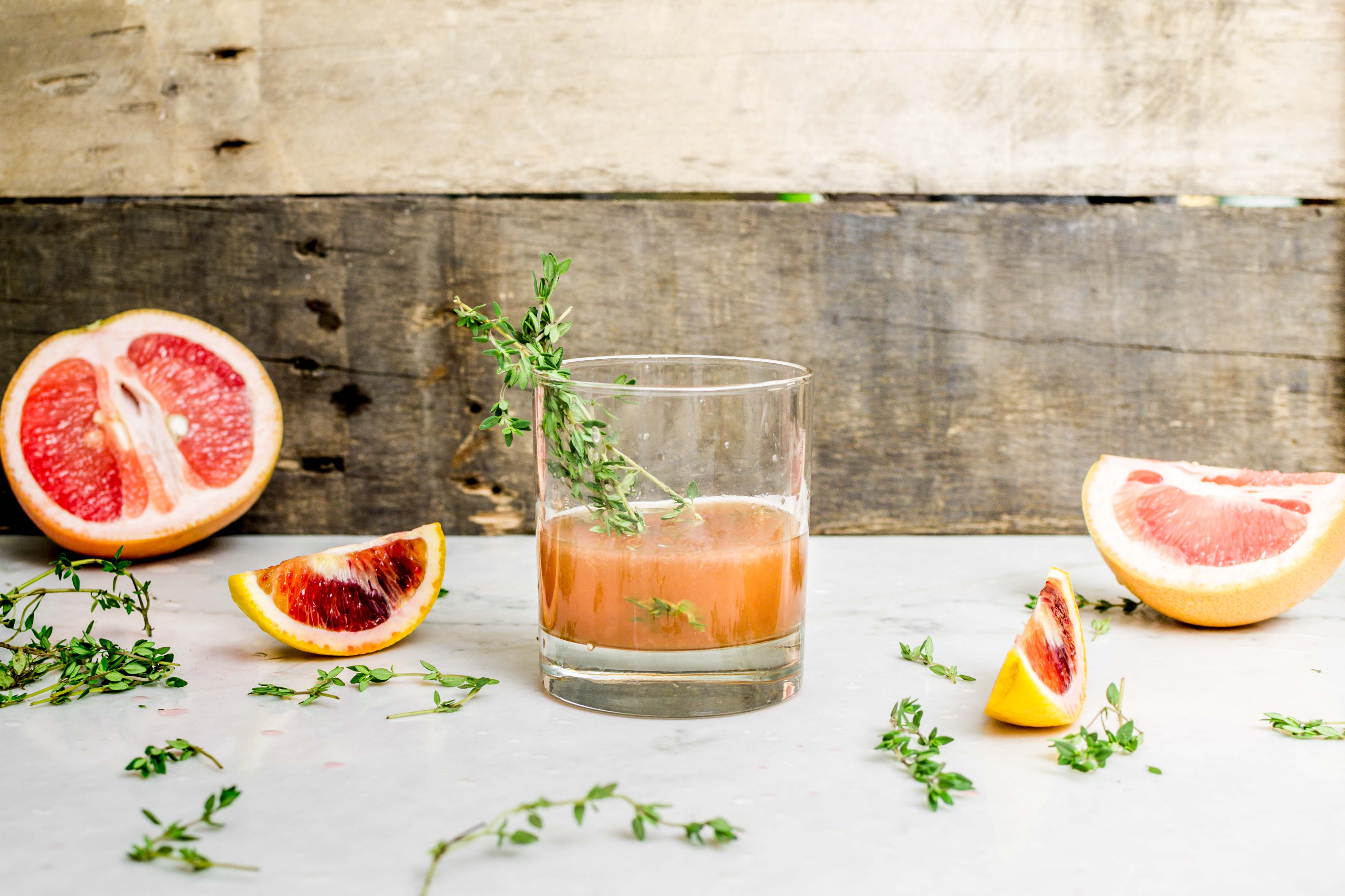 Thyme Citrus Bourbon Cocktail Recipe