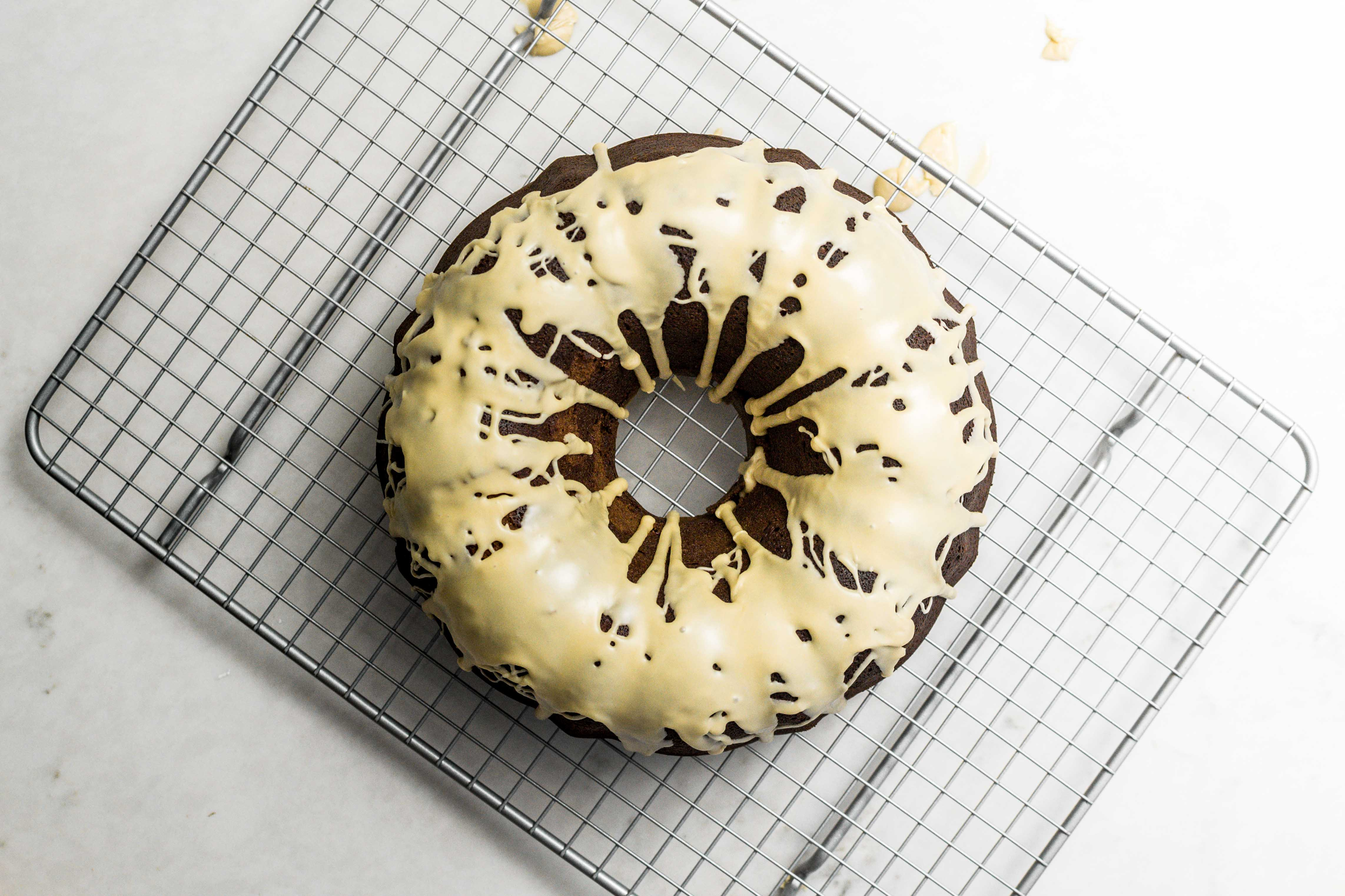 Mocha Bundt Cake with Baileys Irish Cream Glaze Dessert Recipe