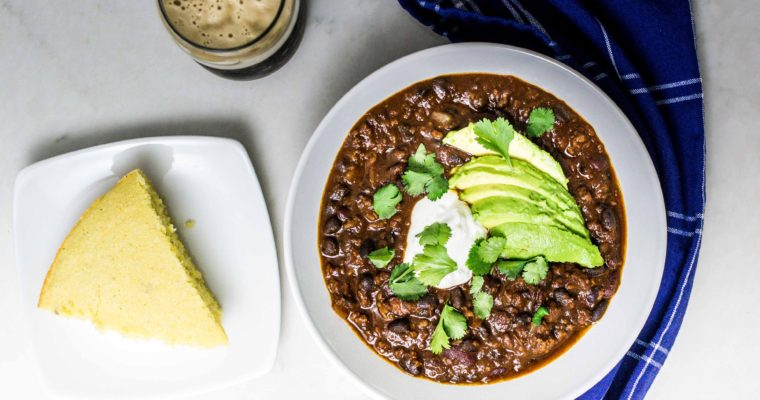 Instant Pot Spicy & Sweet Stout Beer Chili Recipe