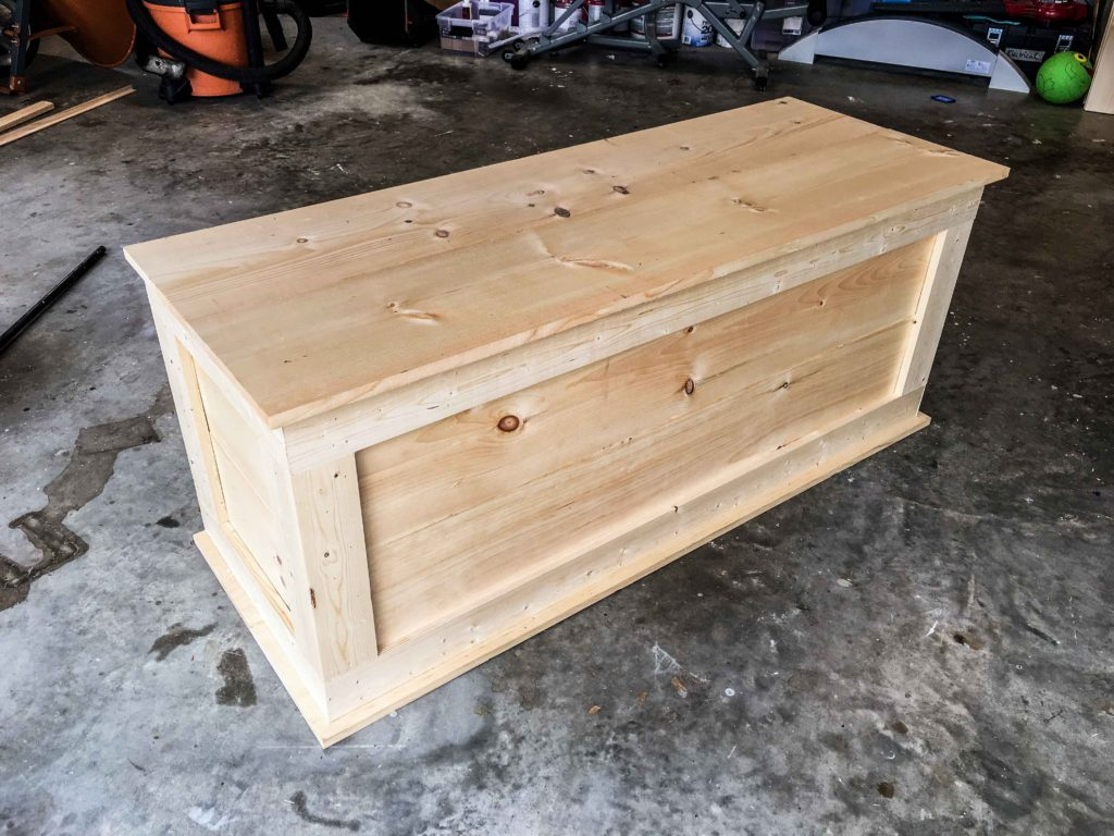 How to Build an Easy DIY Bedroom Storage Chest for Blankets ...
